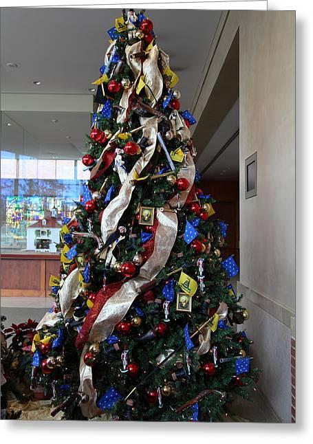 Christmas Display - Mt Vernon - 01134 Greeting Card by DC Photographer