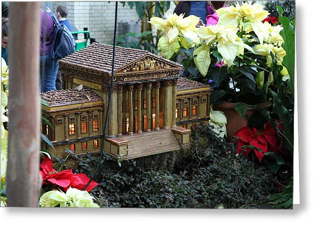 Christmas Display - Us Botanic Garden - 01133 Greeting Card by DC Photographer