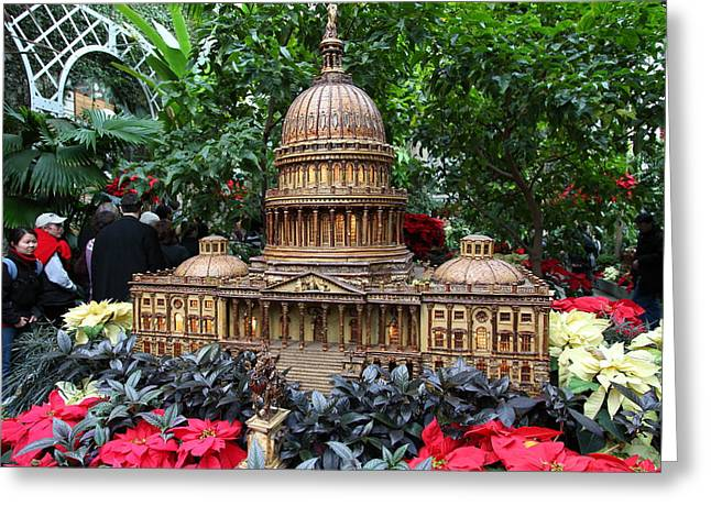 Christmas Display - Us Botanic Garden - 011348 Greeting Card by DC Photographer