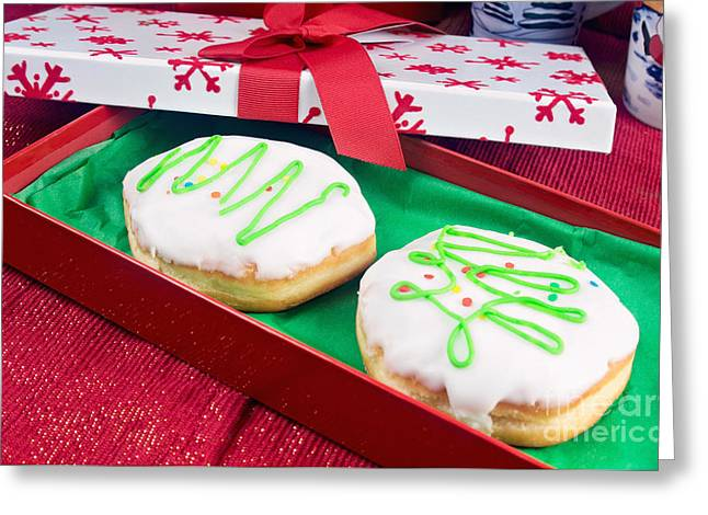Christmas Jelly Donuts Greeting Card by Vizual Studio