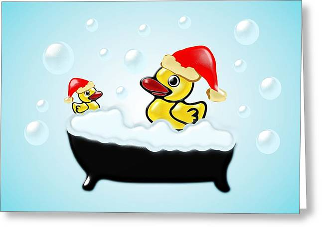 Christmas Ducks Greeting Card
