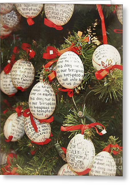 Christmas Egg Shells Decoration Greeting Card by Ivy Ho