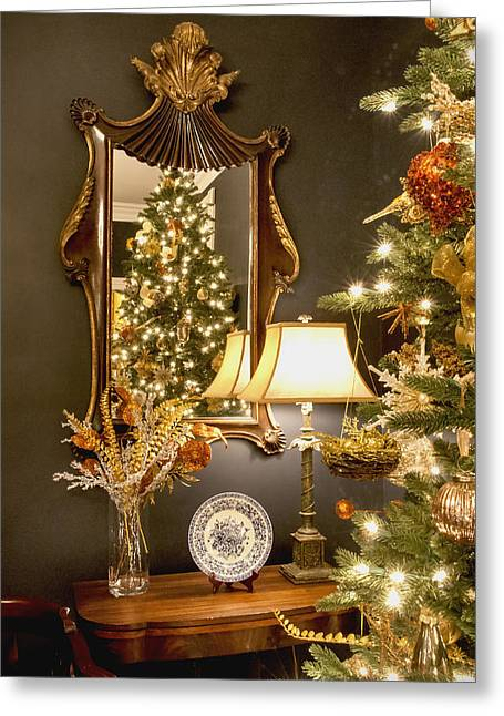 Christmas Elegance Greeting Card by Carol Erikson