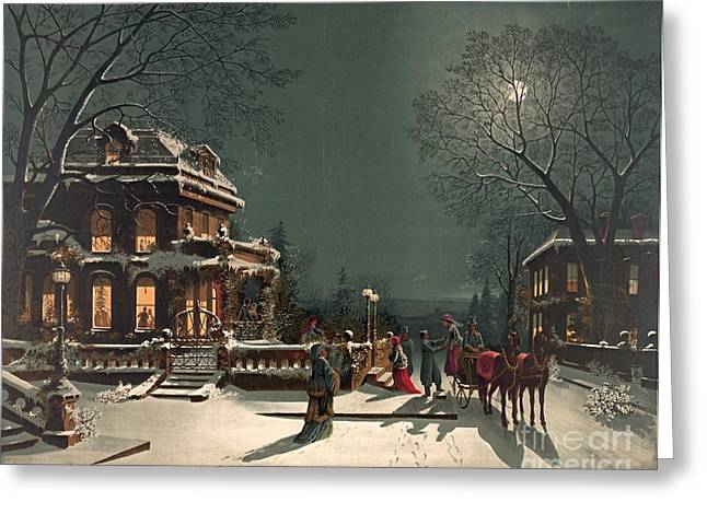 Christmas Eve 1880 Greeting Card