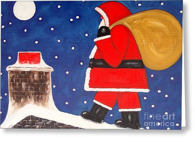 Christmas Eve Greeting Card by Patrick J Murphy