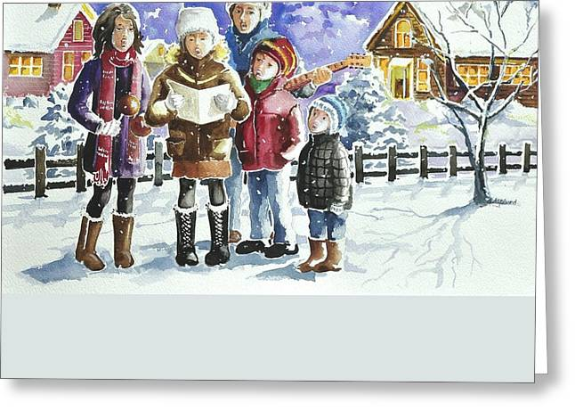 Christmas Family Caroling Greeting Card