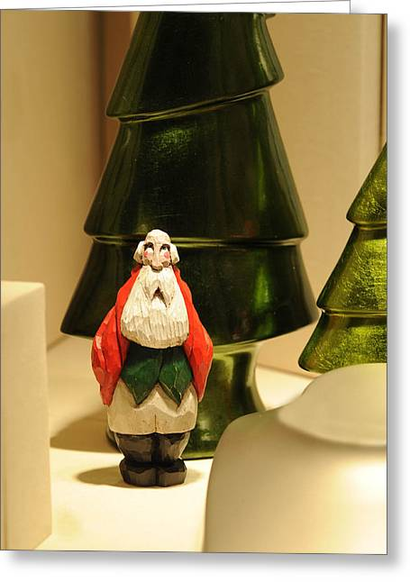 Christmas Figurine I Greeting Card by Harold E McCray