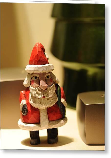 Christmas Figurine II Greeting Card by Harold E McCray