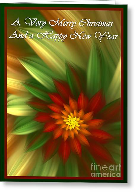 Christmas Flower Greeting Card by Svetlana Nikolova