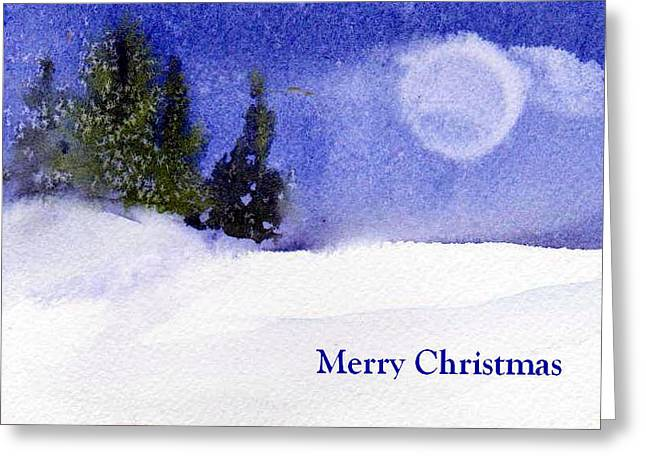 Greeting Card featuring the painting Christmas Forest  03 by Anne Duke