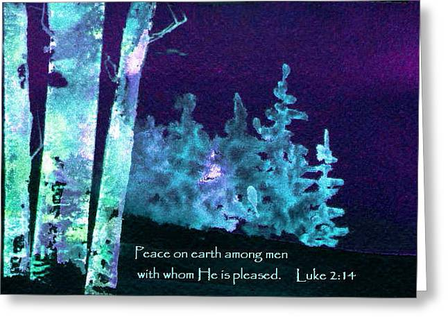 Greeting Card featuring the painting Christmas Forest by Anne Duke