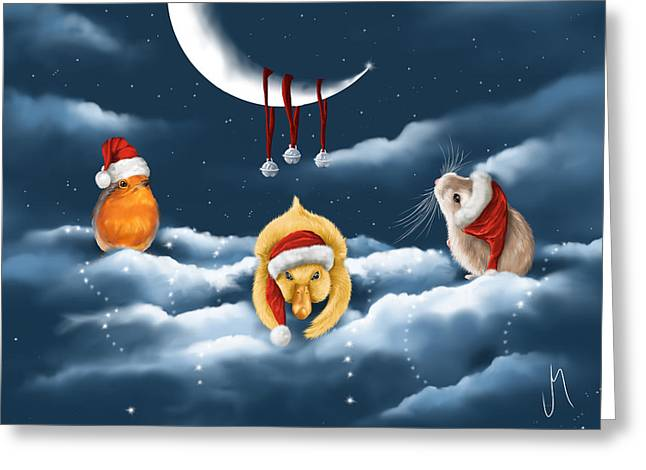 Christmas Games Greeting Card by Veronica Minozzi