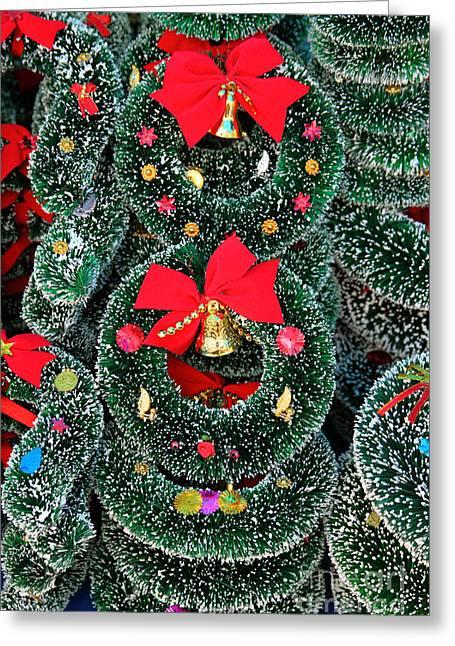 Christmas Garlands Greeting Card