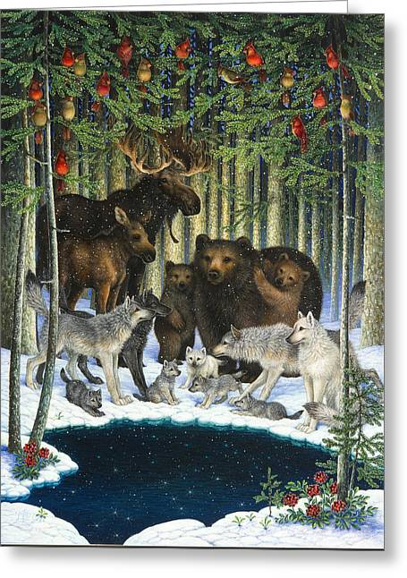Christmas Gathering Greeting Card
