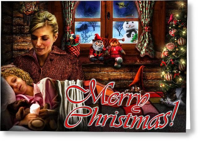 Christmas Greeting Card V Greeting Card by Alessandro Della Pietra