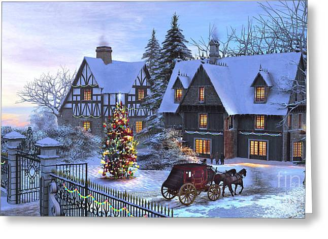 Christmas Homecoming Greeting Card by Dominic Davison