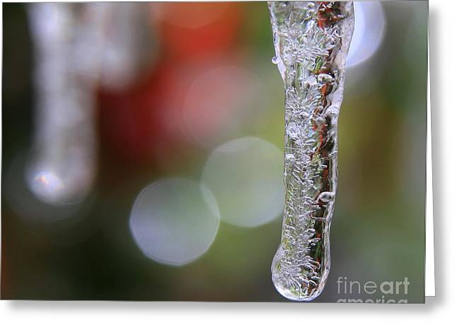 Christmas Icicles Greeting Card