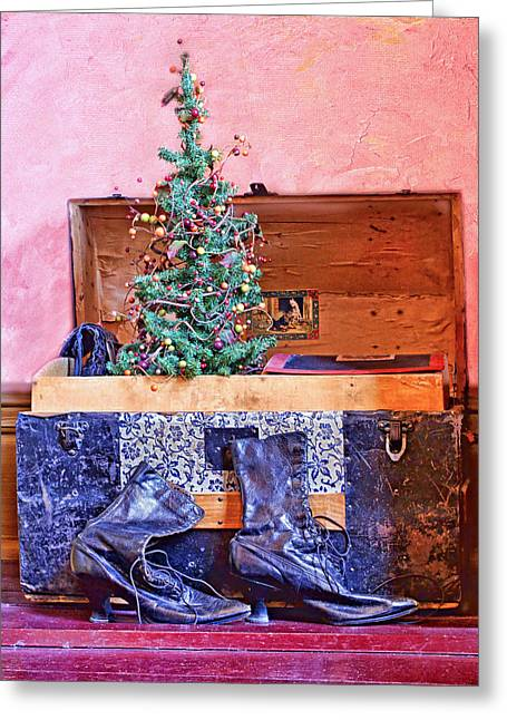 Christmas In A Trunk Greeting Card by Nikolyn McDonald