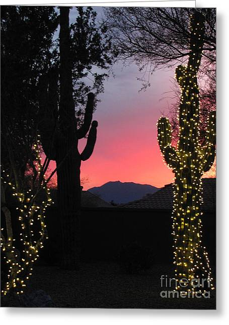 Christmas In Arizona Greeting Card by Marilyn Smith