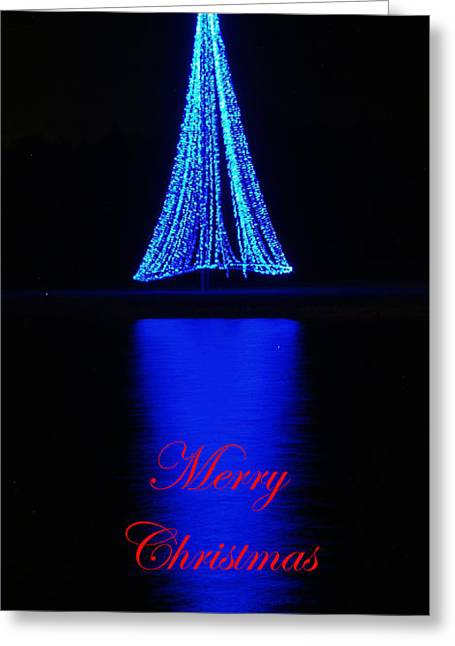 Christmas In Blue Greeting Card