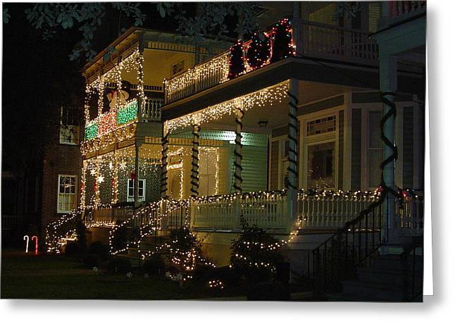 Christmas In Charleston Greeting Card by Richard Marcus