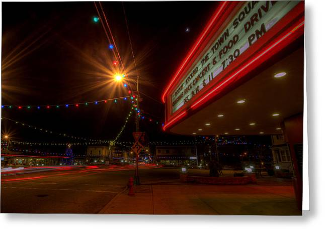 Christmas In Columbiana Ohio Greeting Card