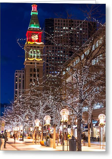 Christmas In Denver Colorado Greeting Card