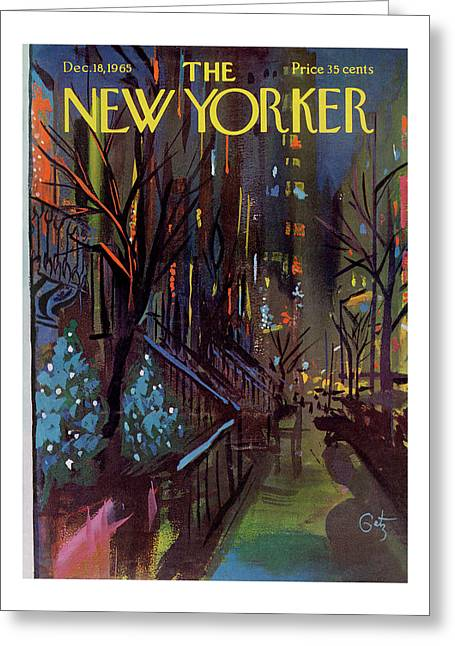 Christmas In New York Greeting Card