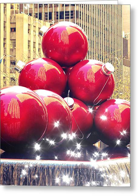 Christmas In New York Greeting Card by Sophie Vigneault