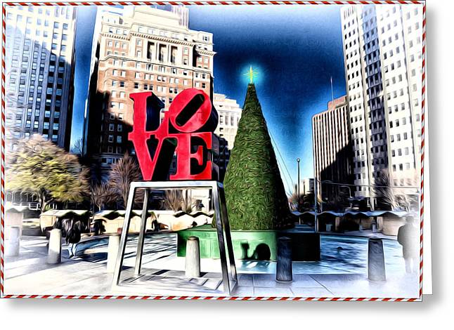 Christmas In Philadelphia Greeting Card by Bill Cannon