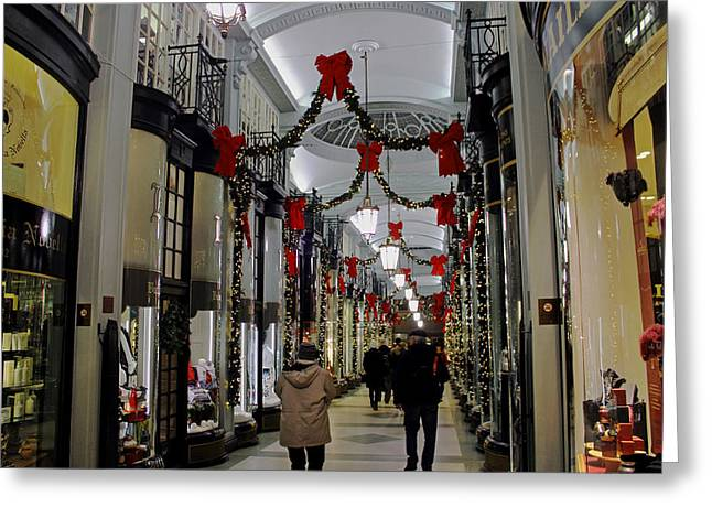 Christmas In Piccadilly Arcade Greeting Card