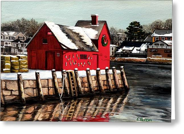Christmas In Rockport Greeting Card