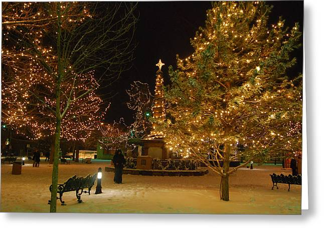 Christmas In Santa Fe Greeting Card