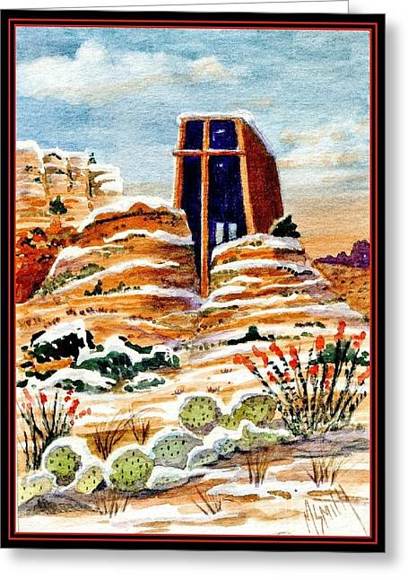Christmas In Sedona Greeting Card by Marilyn Smith