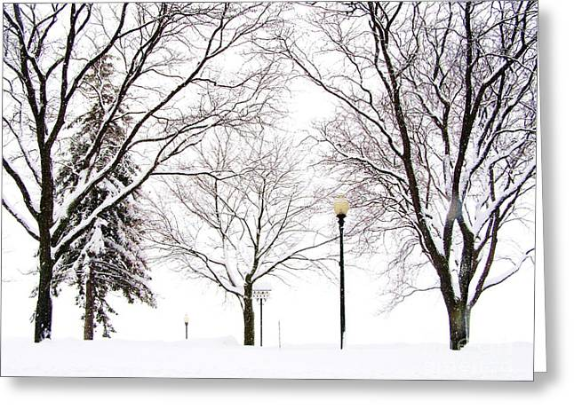 Greeting Card featuring the photograph Christmas In Skaneateles by Margie Amberge
