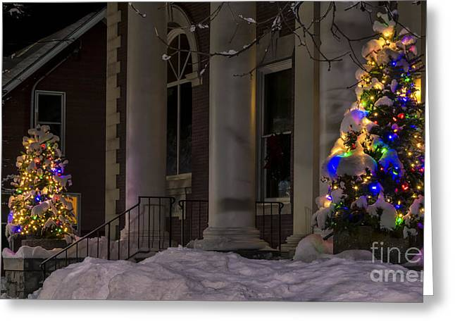 Christmas In Stowe Vermont. Greeting Card