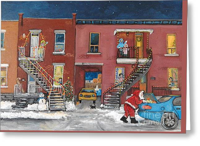 Christmas In The City Greeting Card by Reb Frost