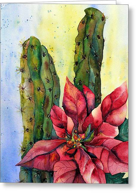 Christmas In The Desert Greeting Card