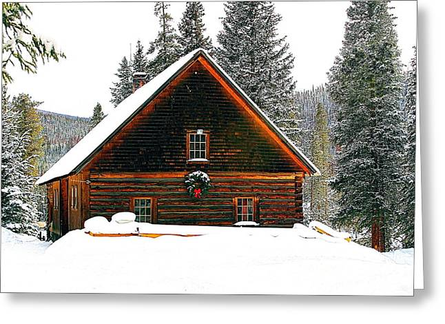 Christmas In The Rockies Greeting Card by Steven Reed