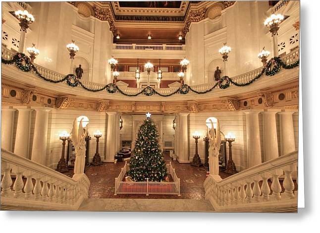 Christmas In The Rotunda Greeting Card