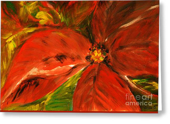 Greeting Card featuring the painting Christmas Star by Jasna Dragun