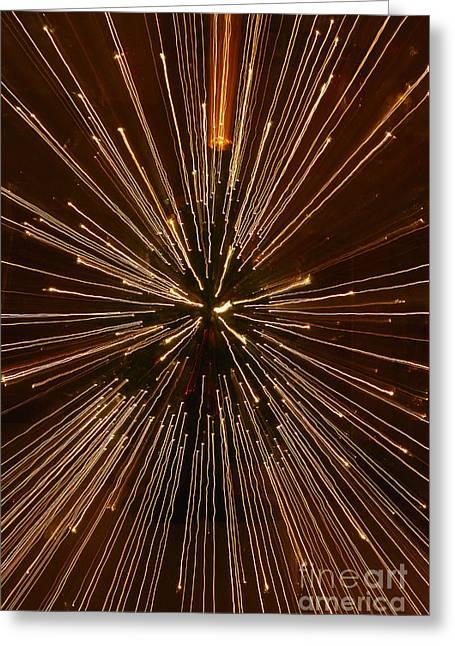 Christmas Lights Greeting Card by Birgit Tyrrell