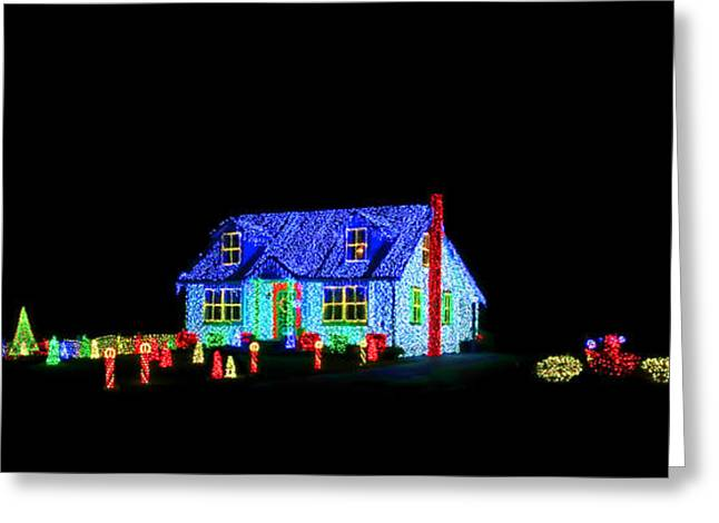 Christmas Lights Greeting Card by Olivier Le Queinec