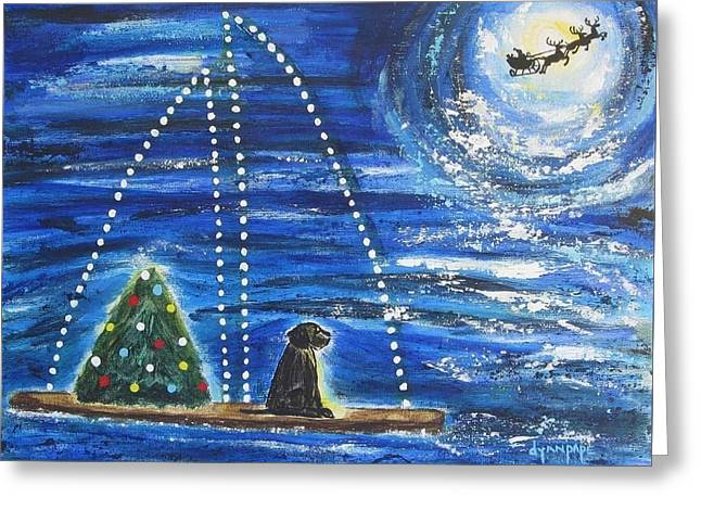 Christmas Magic Greeting Card by Diane Pape