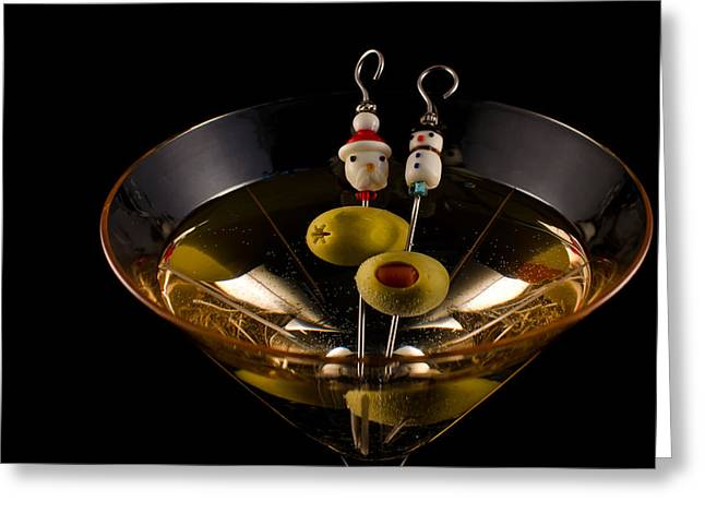 Christmas Martini Greeting Card by Ron White