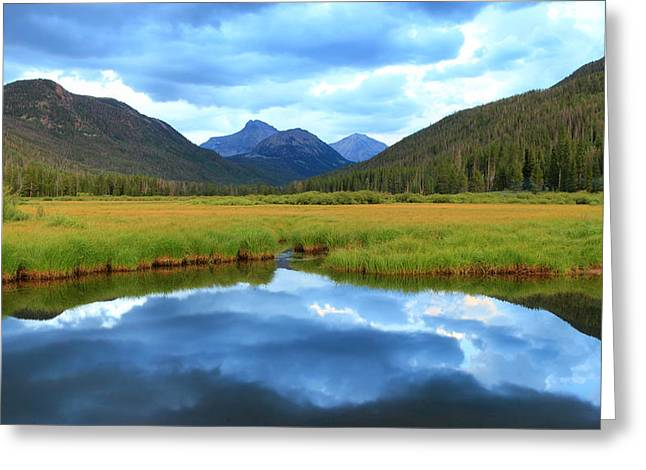 Christmas Meadows In The Uinta Mountains. Greeting Card