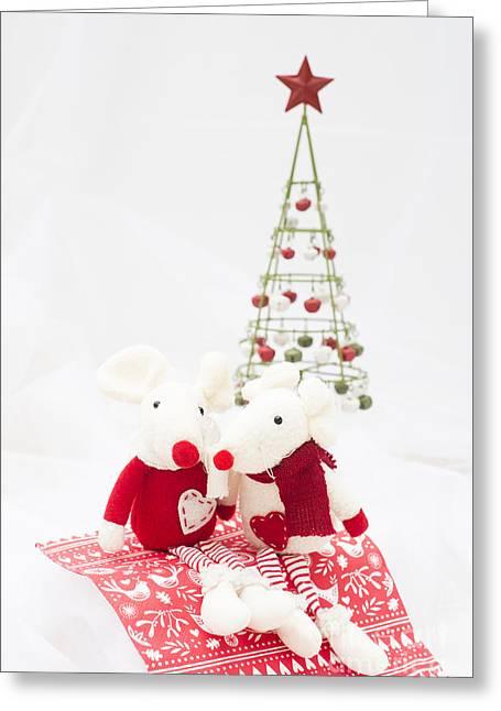 Christmas Mice Greeting Card