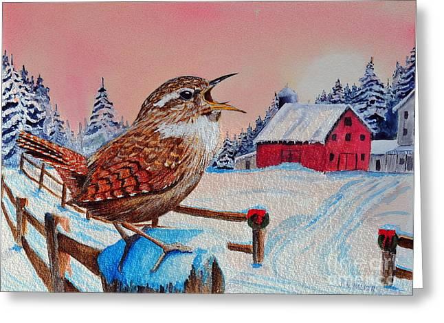Christmas Morning Reveille Greeting Card
