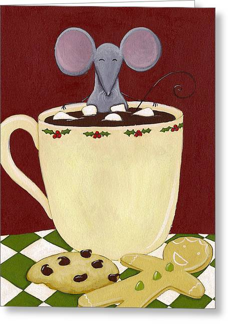 Christmas Mouse Greeting Card by Christy Beckwith
