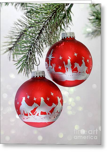 Christmas Nativity Ornaments Greeting Card